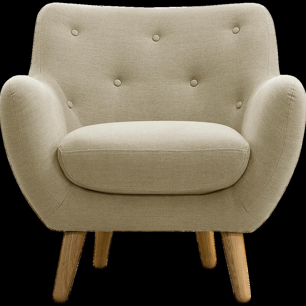 Fauteuil tissu beige poppy fauteuils et poufs alinea - Alinea fauteuil jardin ...