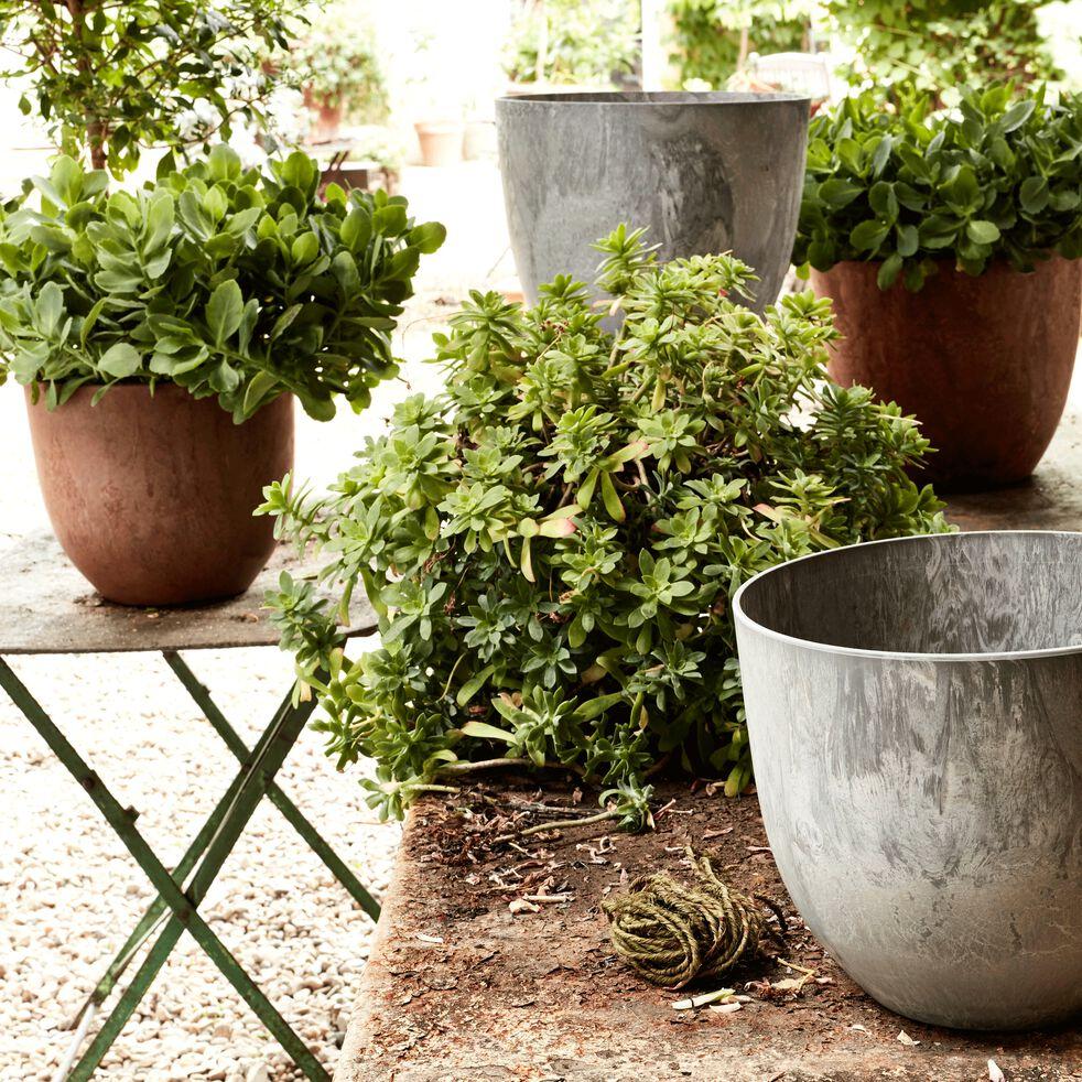 Pot à réserve d'eau - marron H24cm-BOLA