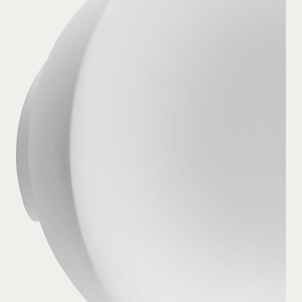 Patère ronde en bois - blanc ventoux D8cm-PENO