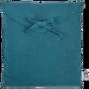 Taie de traversin en lin Bleu figuerolles 45x190cm-VENCE