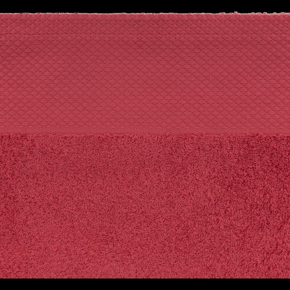 Drap de bain en coton 100x150cm rouge arbouse-AZUR