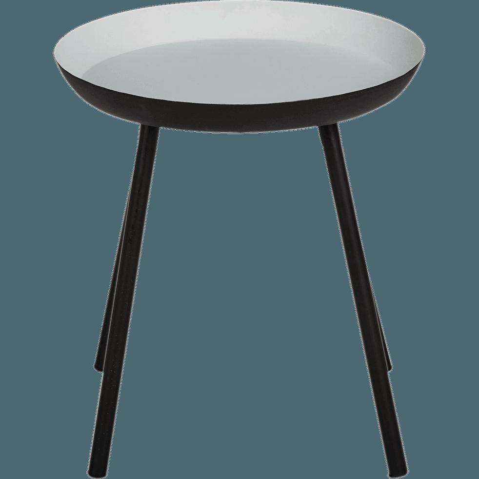 bout de canap en acier gris clair soufio catalogue. Black Bedroom Furniture Sets. Home Design Ideas