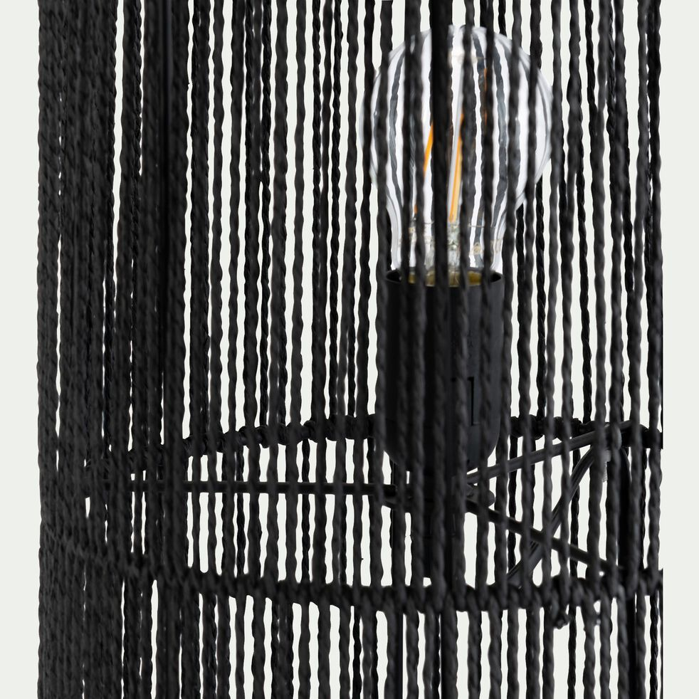 Lampe à poser cylindrique - D24xH90cm noir-CARBINI