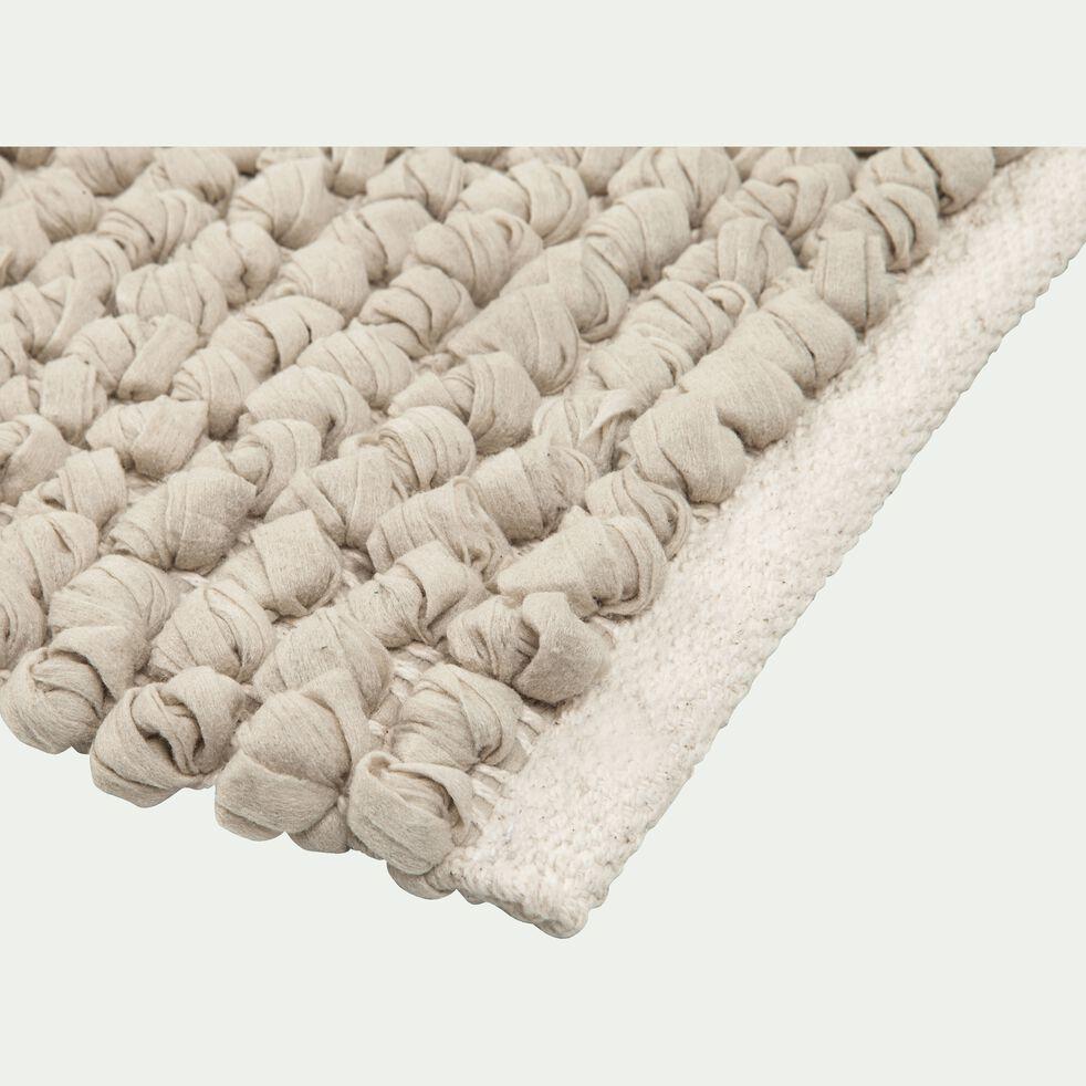 Tapis de bain en coton et polyester recyclés - vert olivier 50x80cm-JAN