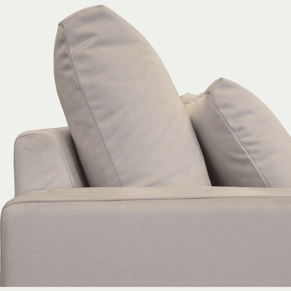 Canapé 5 places en velours - beige roucas-SOZY