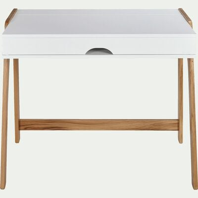 Bureau en bois blanc avec plateau relevable-DUC