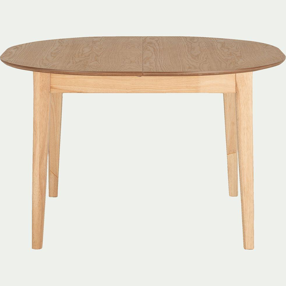 Table de repas extensible plaquée chêne - 4 à 6 places-AZTEK