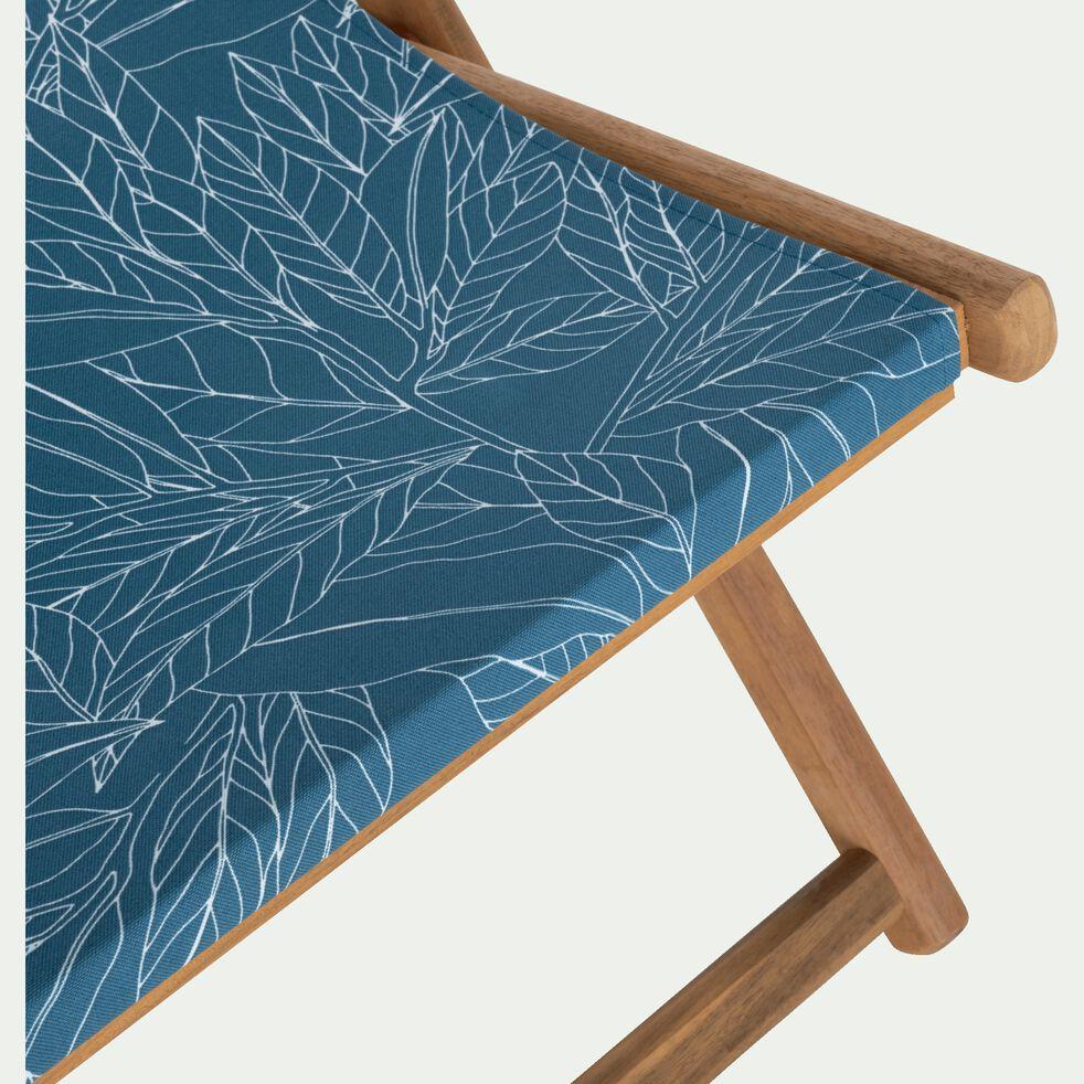 Toile de chilienne de jardin à motif laurier - bleu figuerolles-Udine