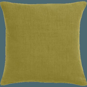 Coussin en lin lavé vert garrigue 45x45cm-VENCE