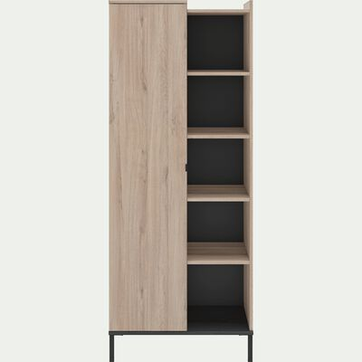 Colonne de rangement avec une porte finition chêne-CASTEL