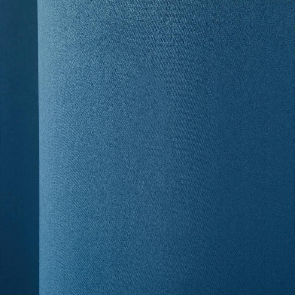 Rideau occultant à oeillets bleu figuerolles 140x250cm-GORDES