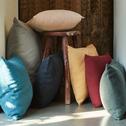 Coussin en coton rose argile 40x40cm-CALANQUES