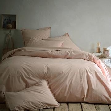 Linge de lit en percale rose argile-FLORE