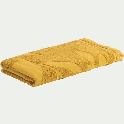 Drap de bain en coton - jaune argan 100x150cm-Ryad