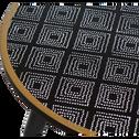 Bout de canapé noir à motifs-VIVA