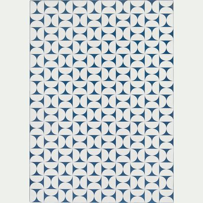 Tapis en vinyle - bleu et blanc 100x150cm-RIOU