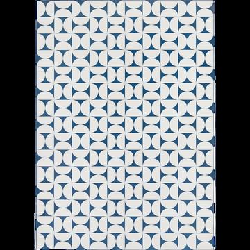 Tapis en vinyle bleu et blanc 100x150cm-RIOU