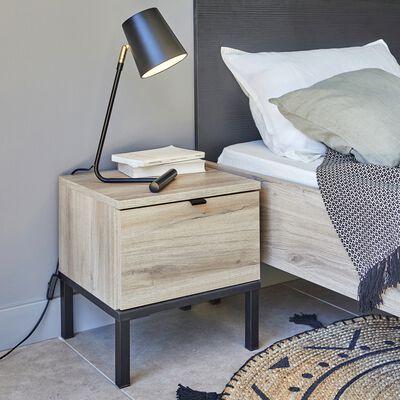 Lampe en métal noir H45cm-SINO