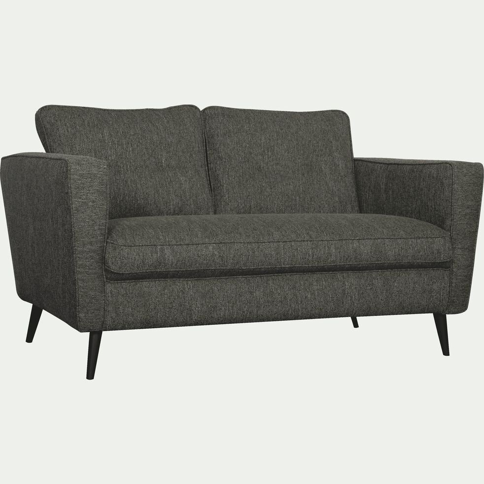 Canapé fixe 2 places en tissu - gris restanque-BARTHOLE