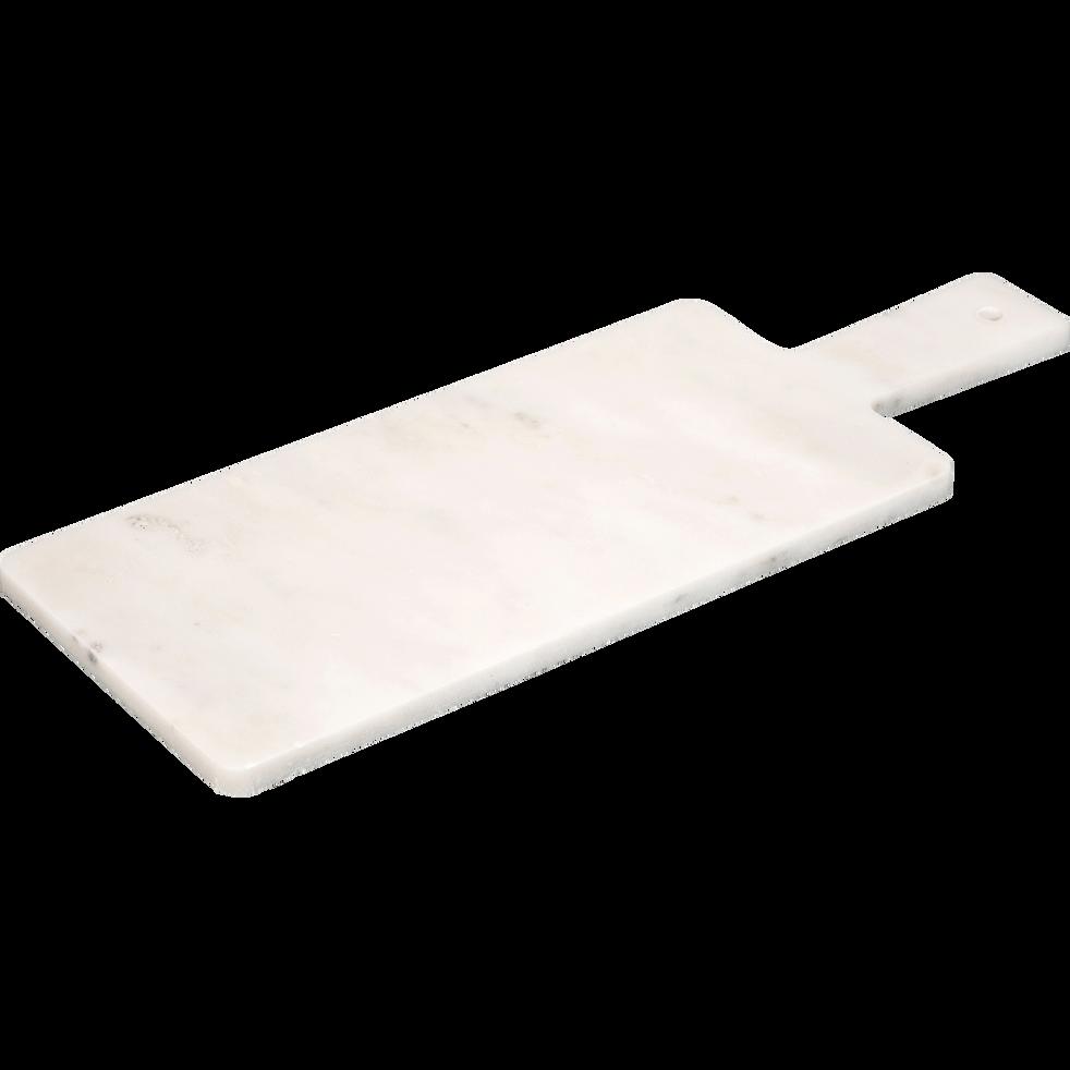 Planche à découper en marbre blanc 40x15cm-ZELI