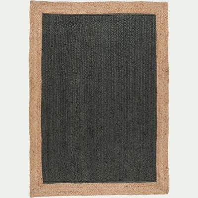 Tapis en jute - vert cèdre 120x170cm-NAÏA