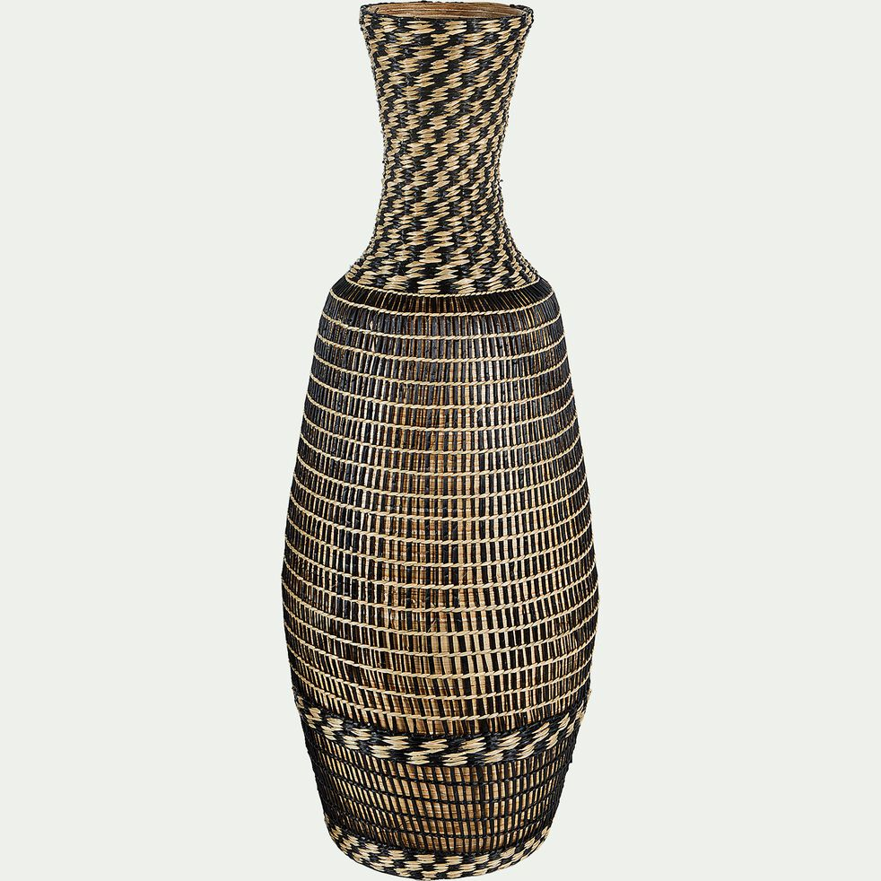 Vase bouteille en bambou - noir H69cm-MARIAMA