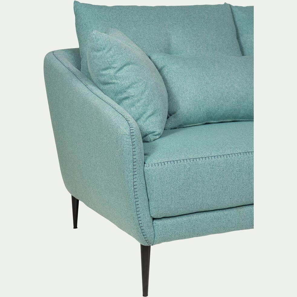 Canapé 2 places fixe en tissu - vert d'eau-DOME