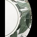 Lot de 8 assiettes en carton à motif laurier D25cm-SAZE