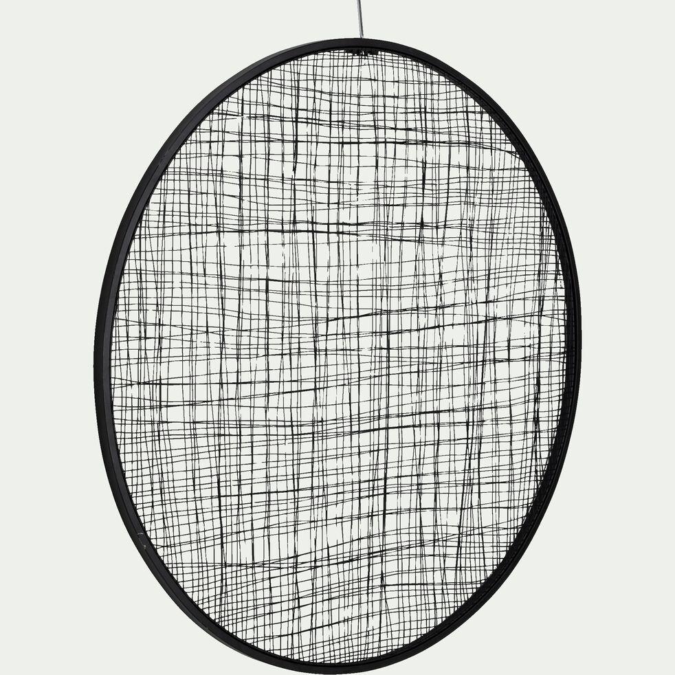 Décoration murale en métal - noir D80cm-VADIM