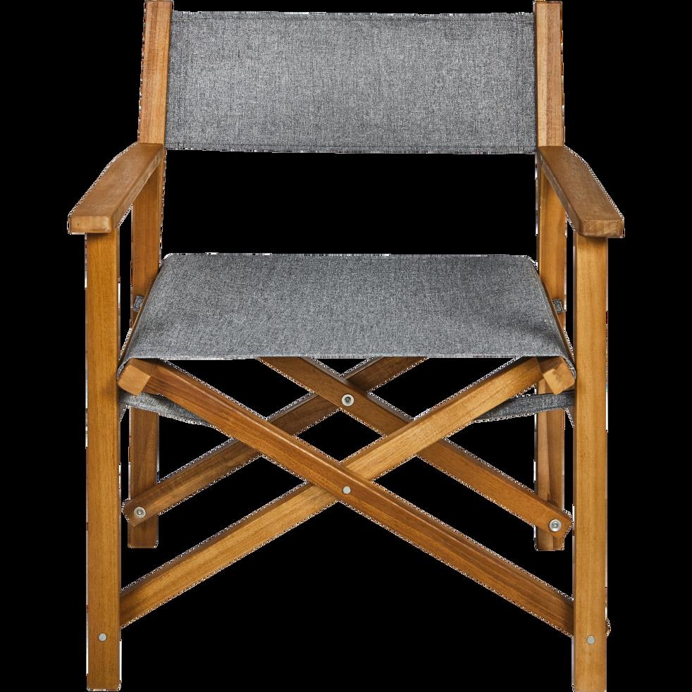 fauteuil de jardin en acacia et tissu escalet chaises. Black Bedroom Furniture Sets. Home Design Ideas