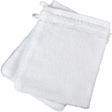 Lot de 2 gants de toilette blancs-BULLY