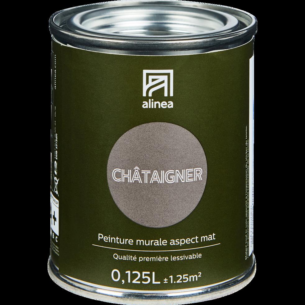 Peinture acrylique mate multi-supports 0.125L brun châtaignier-PEINTURE