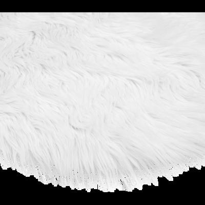 Tapis rond blanc imitation fourrure D70cm-BUNDCHEN