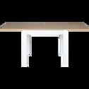 Table de repas extensible bicolore - 4 à 10 places-ARSENE