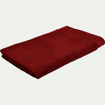 Drap de bain bouclette en coton égyptien - rouge sumac 100x150cm-ARROS