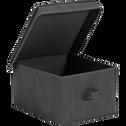 Boite de rangement intissé grise 55x54xh32cm (grand modèle)-IVY