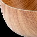 Saladier en plastique aspect bois D20cm-ERI
