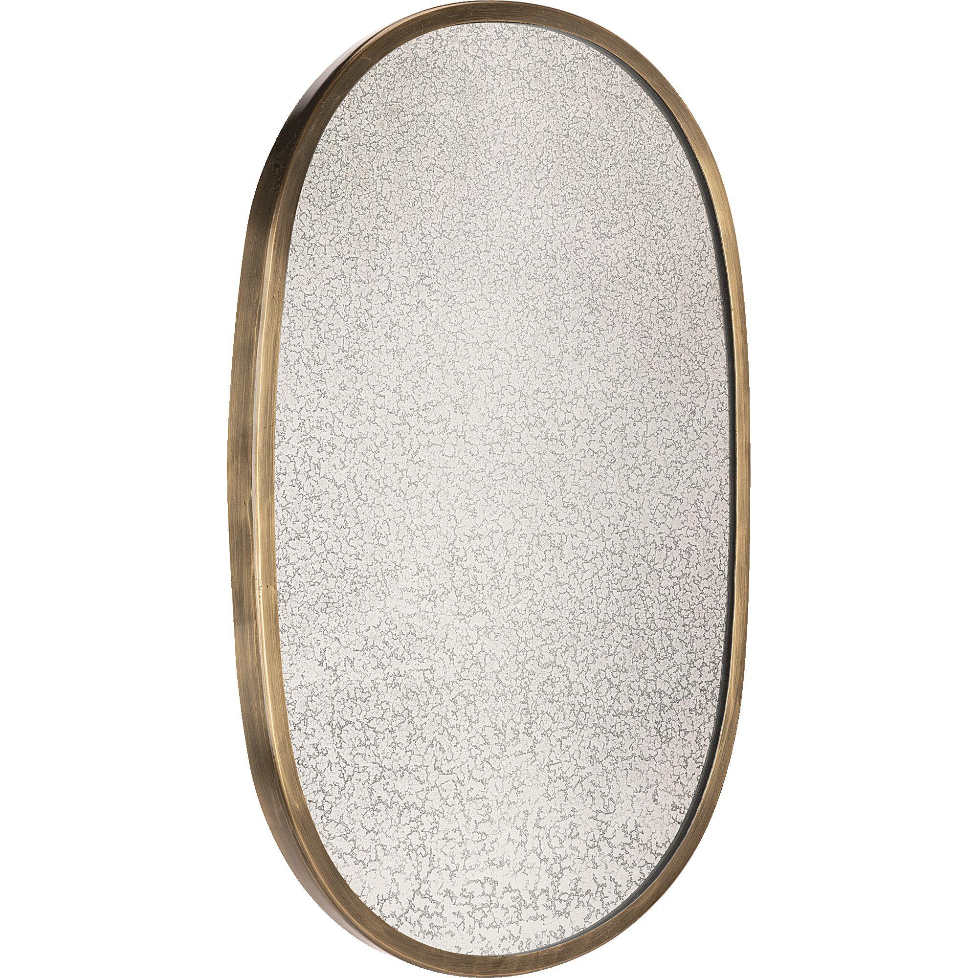 Miroir ovale en fer - noir H45cm-REFLET DE L AME