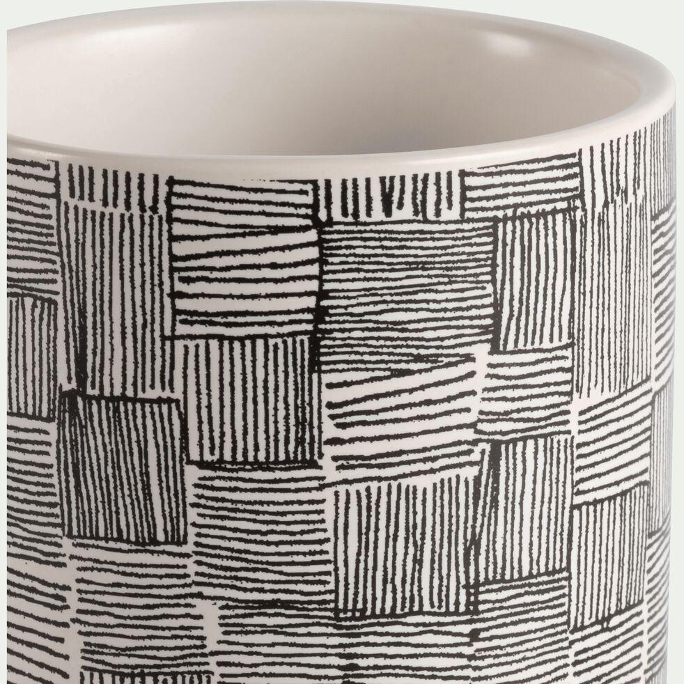 Vase en grès à motif H7,5cm-Kos