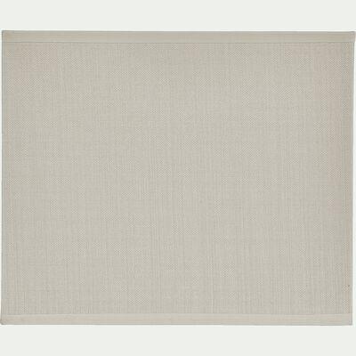Applique non électrifiée en tissu beige roucas 24x20cm-MISTRAL