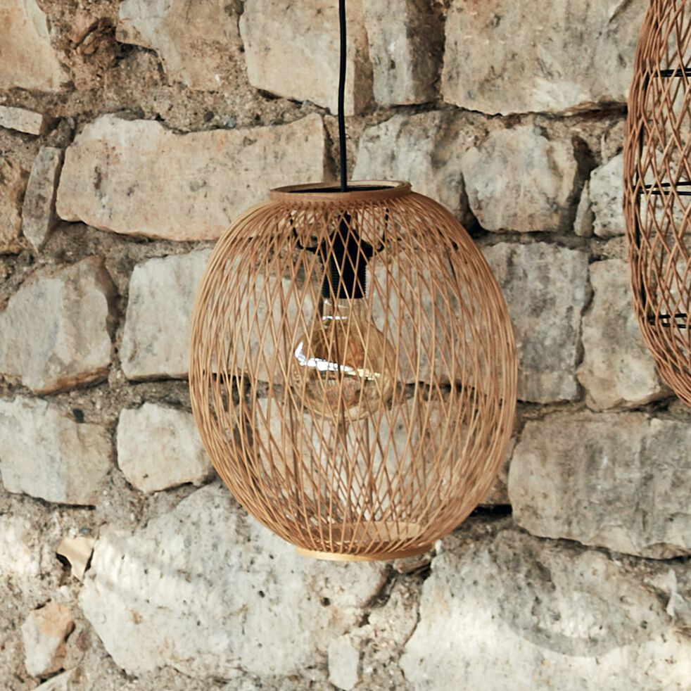 Suspension naturelle non électrifiée en bambou - D30xH34cm-LORGUES