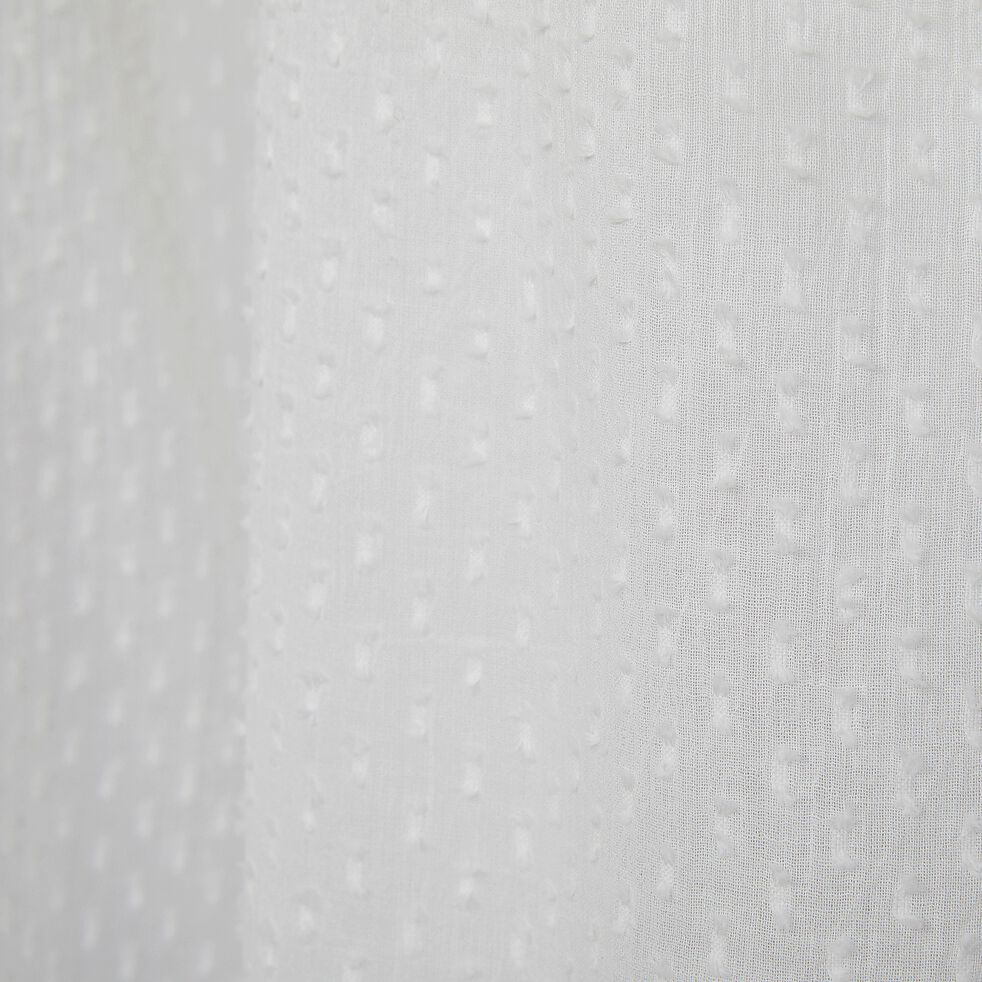 Voilage à œillets en coton plumetis - blanc 140x250cm-PISANA