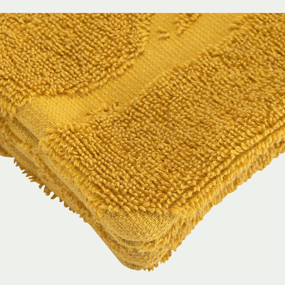 Lot de 2 gants de toilette en coton - jaune argan-Ryad