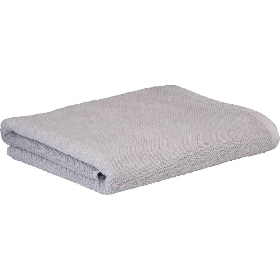 Drap de bain gris borie 90x150cm-COLINE