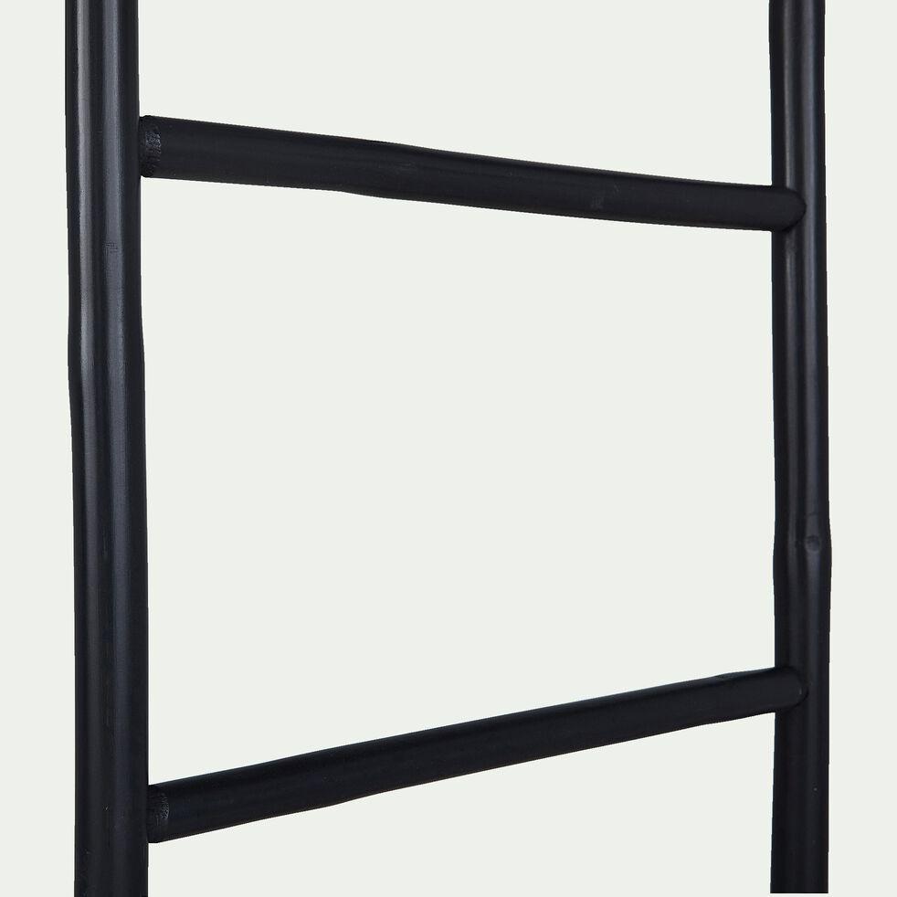 Porte-serviettes échelle en bambou bleu foncé H190cm-CIRO