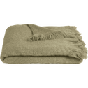 Plaid effet mohair vert 130x170cm-VALENTINE