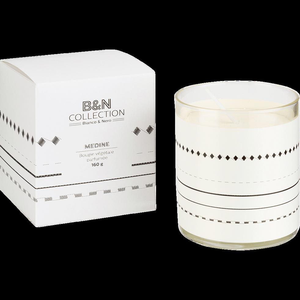 Bougie parfumée cèdre et iris blanc 160g-MEDINE