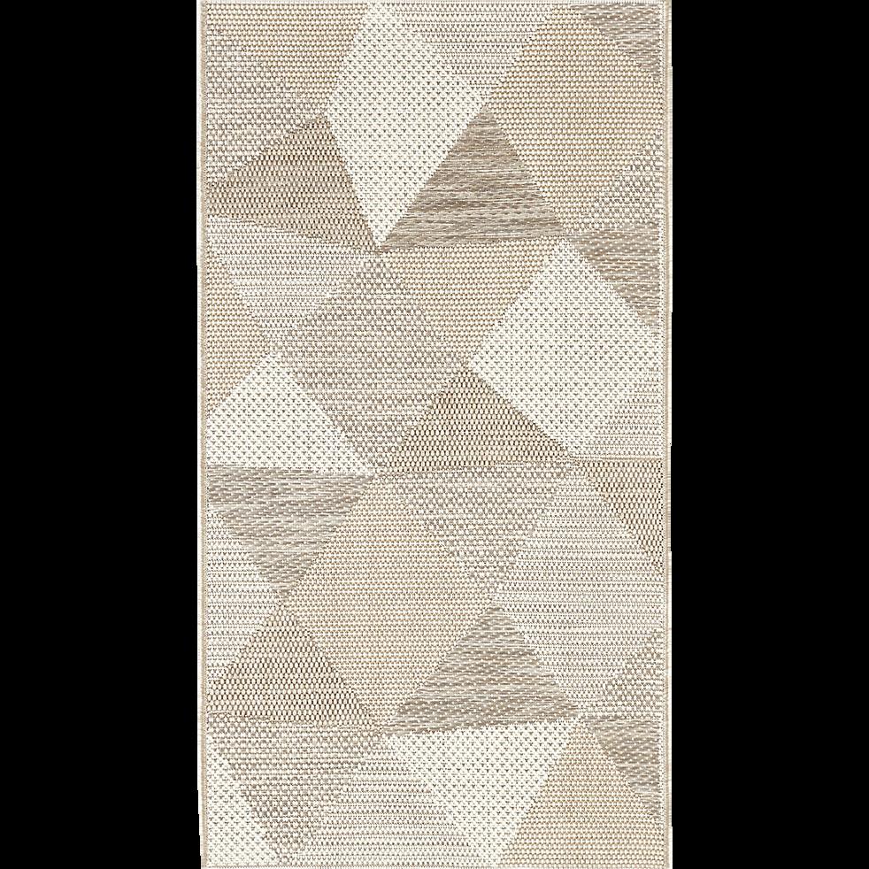 Tapis extérieur et intérieur beige 60x110cm-METRIX