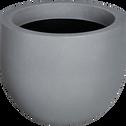 Cache-pot gris en plastique H40xD55cm-ALLURE