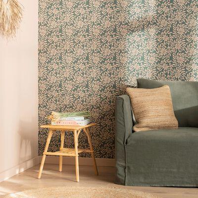 Papier peint intissé motif jasmin 10m-JASMIN
